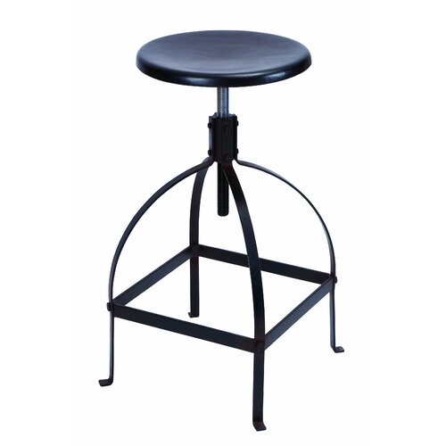 "Woodland Imports 30"" Adjustable Bar Stool"