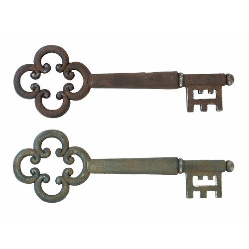 Woodland Imports 2 Piece Décor Magical Key Wall Décor Set