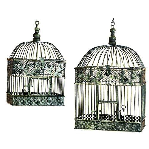 ... Imports 2 Piece Decorative Metal Bird Cage Set & Reviews  Wayfair