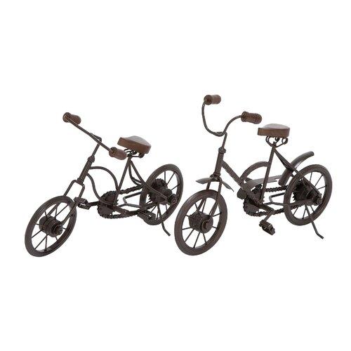 2 Piece Metal Racing Cycle Figurine