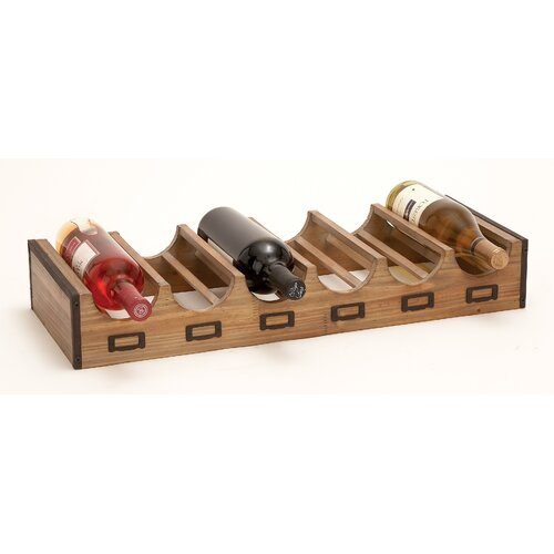 Bistro 6 Bottle Tabletop Wine Rack