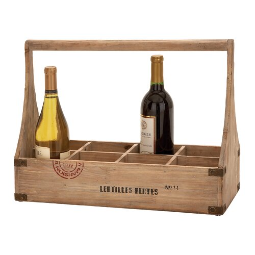 Woodland Imports 8 Bottle Tabletop Wine Basket