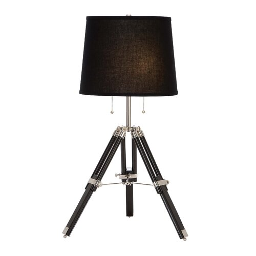 Woodland Imports Wood Metal Table Lamp