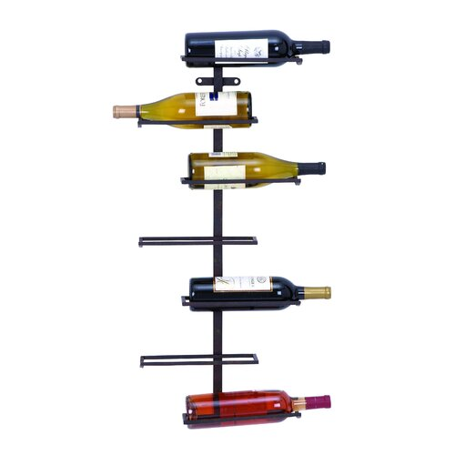 Woodland Imports 7 Bottle Wall Mounted Wine Rack