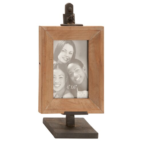 Woodland Imports Metal Wood Picture Frame