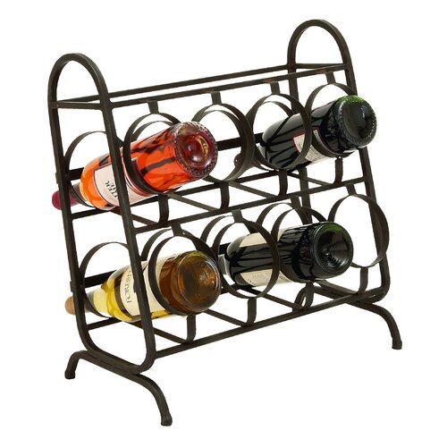Woodland Imports 8 Bottle Tabletop Wine Rack