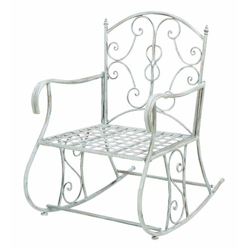 Woodland Imports Outdoor Rocking Arm Chair