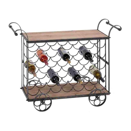 Woodland Imports 35 Bottle Wine Rack