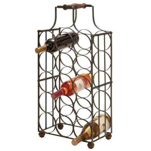 15 Bottle Tabletop Wine Rack