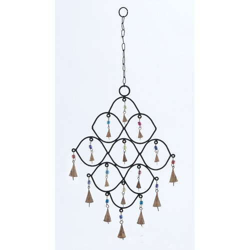 Woodland Imports Metal Bead Wind Chime