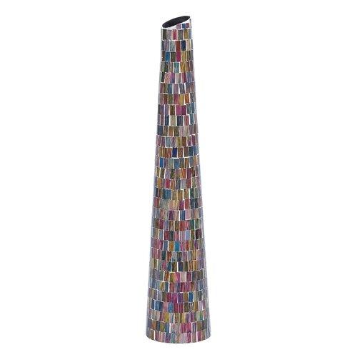 Woodland Imports Metal Glass Vase