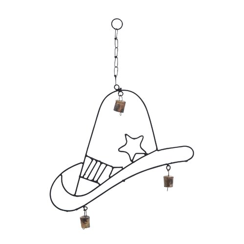 Woodland Imports Metal Texan Hat Wind Chime