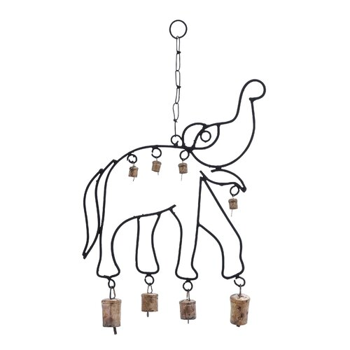 Metal Elephant Wind Chime