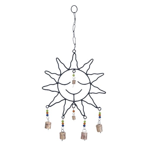 Metal Sun Face Wind Chime