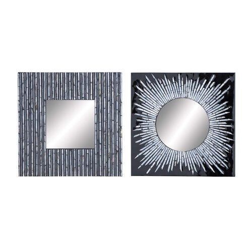 2 Piece Assorted Wall Mirror Set