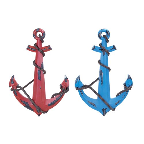 Woodland Imports 2 Piece Anchor Wall Décor Set