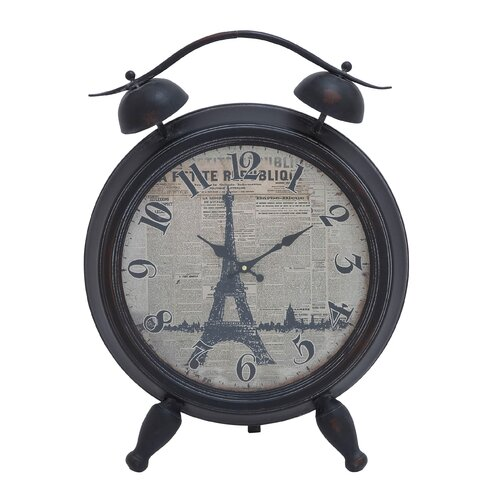 Eiffel Tower Table Clock