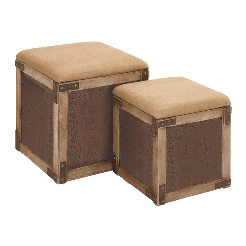 Stool with Extra Storage Space (Set of 2)