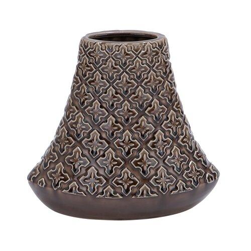 Crackled Bell Shaped Vase