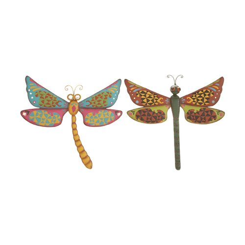Woodland Imports 2 Piece Dragonfly Assorted Wall Décor Set