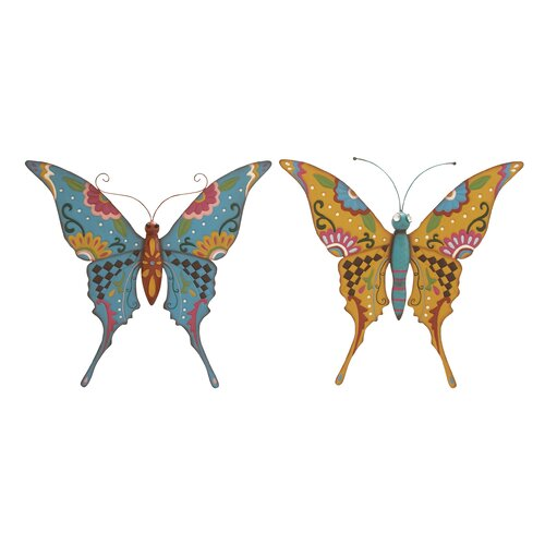 Woodland Imports 2 Piece Butterfly Assorted Wall Décor Set