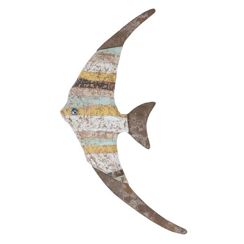 Woodland Imports Wood Fish Wall Décor