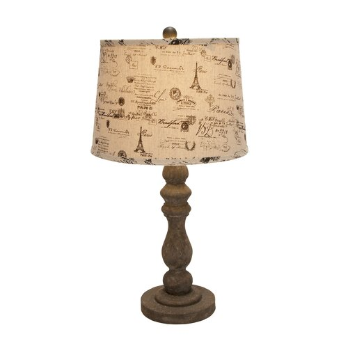 "Woodland Imports Stem 26"" H Table Lamp with Empire Shade"