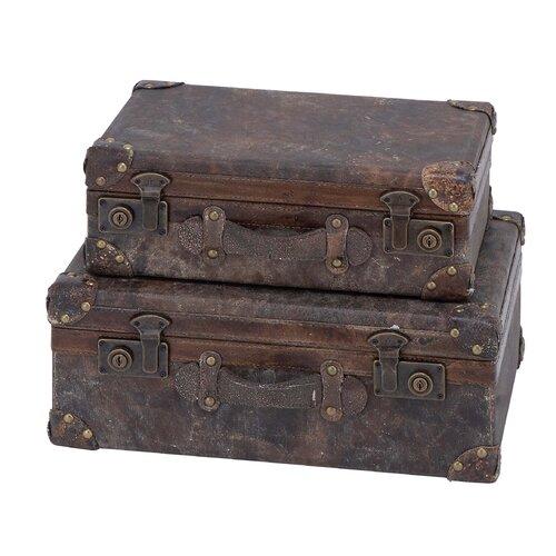 Woodland Imports Wood Leather Case