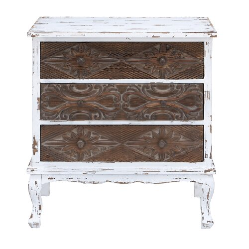 Woodland Imports 3 Drawer Cabinet