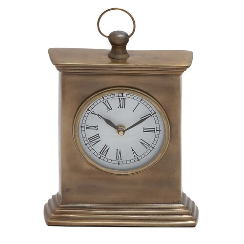 Pillar Shaped Wooden Table Clock
