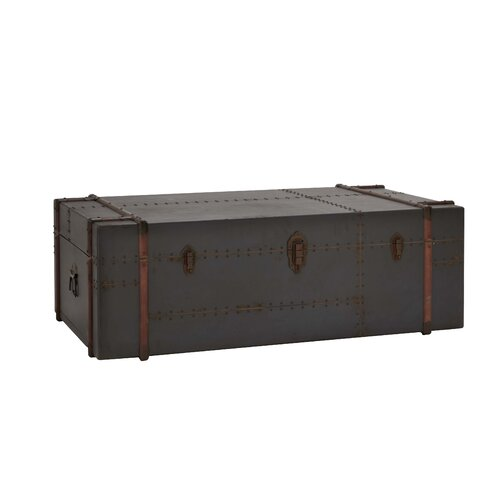 Woodland Imports Antique Trunk Coffee Table & Reviews | Wayfair