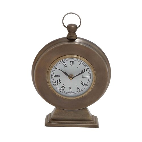 Woodland Imports Round Shaped Table Clock