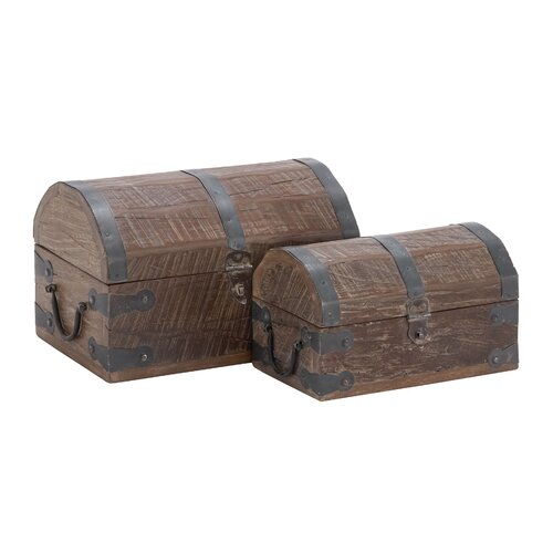 2 Piece Wooden Reclaimed Box Set