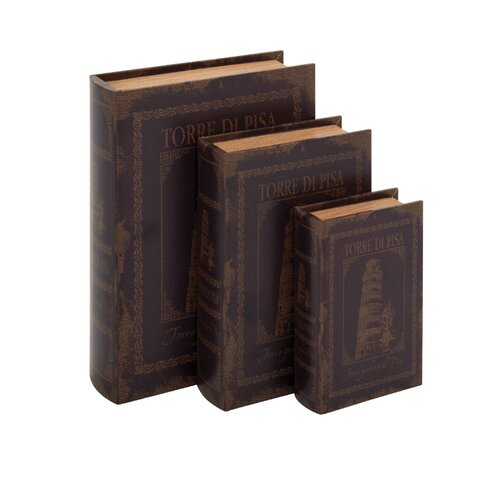 Woodland Imports 3 Piece Italian Inspired Book Box Set