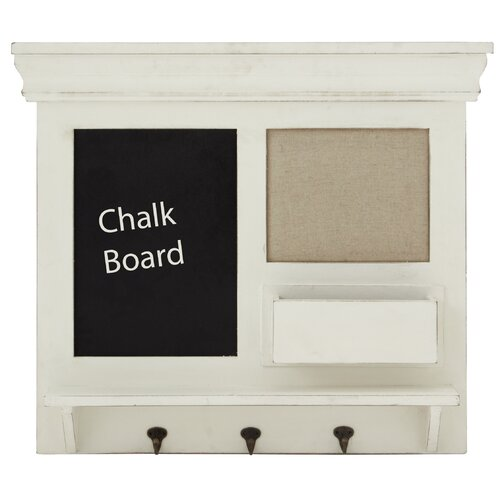 Wooden Chalkboard Coat Rack