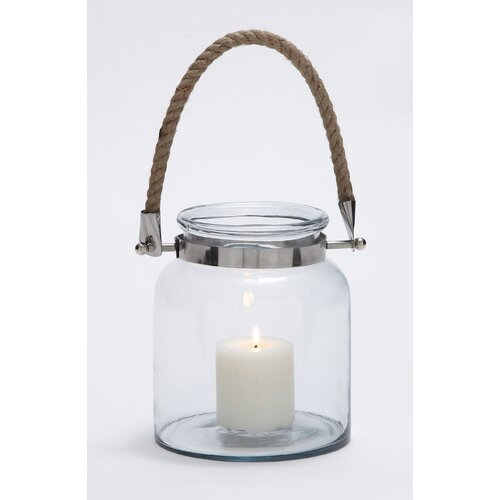 Woodland Imports Glass Lantern