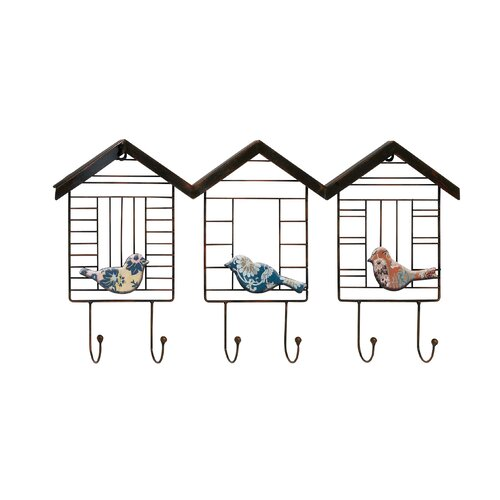 Mini Wired Cottage Metal Wall Hooks