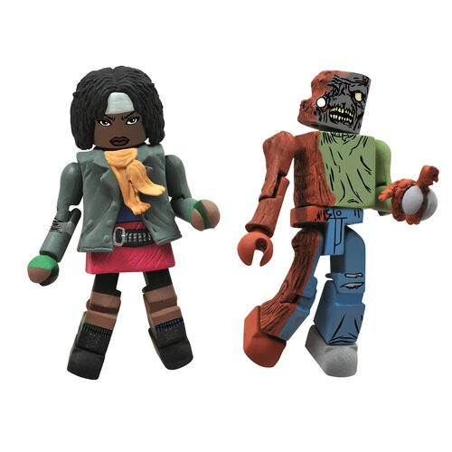 Diamond Selects The Walking Dead Minimates Series 2: Michonne and Zombie