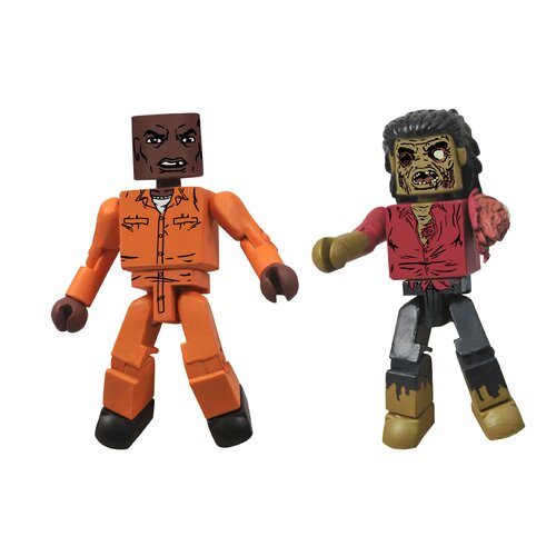Diamond Selects The Walking Dead Minimates Series 3: Dexter and Dreadlock Zombie