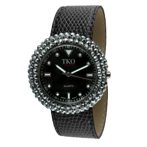 Women's TK618 Leather Slap Watch