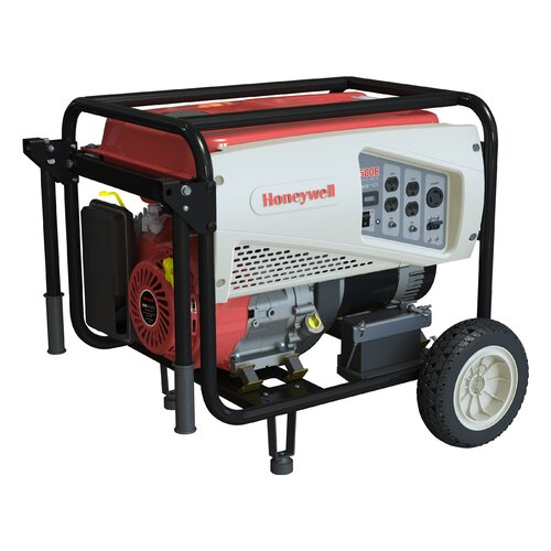 Honeywell Generators Portable 5,500 Watt Gasoline Generator with Electric Start