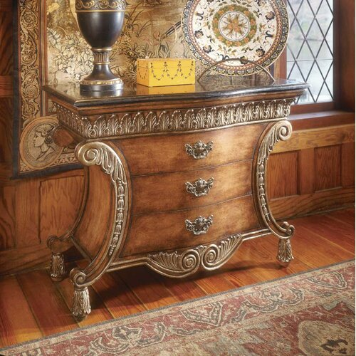 Butler Connoisseur's 3 Drawer Chest with Fossil Stone Top
