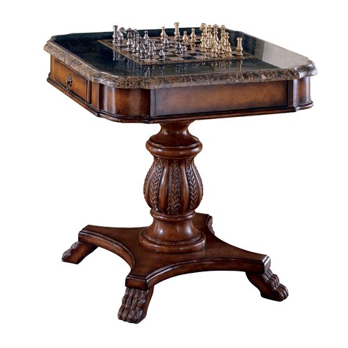 Butler Heritage Antique Pedestal Game Table amp Reviews  : Butler Heritage Antique Pedestal Game Table 506070 from www.wayfair.com size 500 x 500 jpeg 50kB