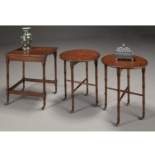 Butler Plantation Cherry 3 Piece Nesting Tables