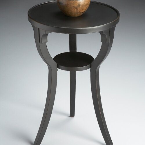 Black Licorice Round End Table