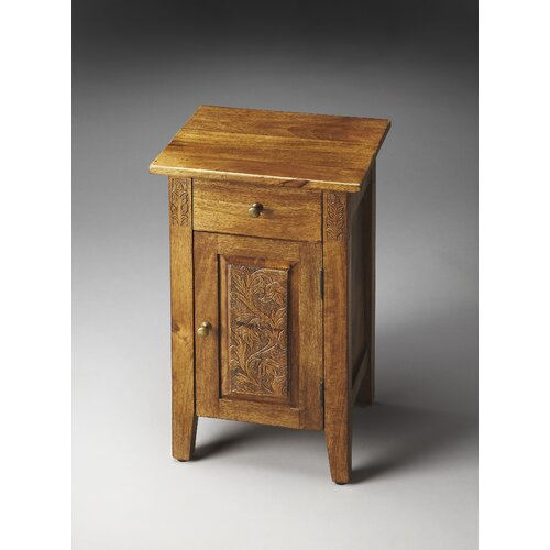 Artifacts Webster Hand Carved Chairside Chest