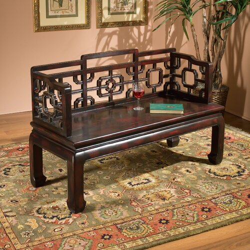 Eastern Inspirations Wood Entryway Bench