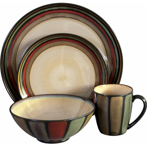 Flair 16 Piece Dinnerware Set