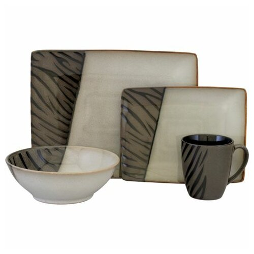 Sango Safari 16 Piece Dinnerware Set