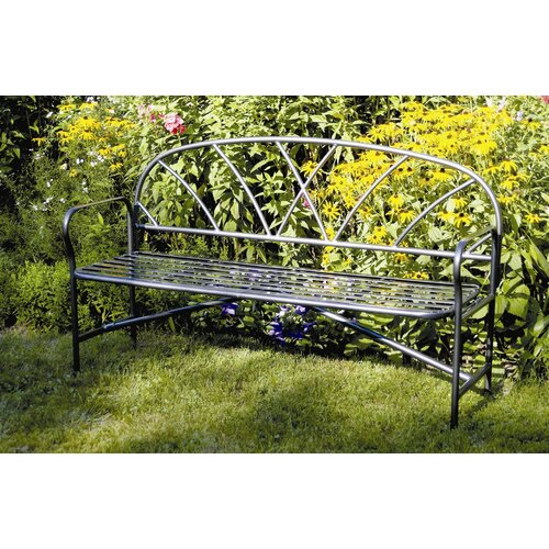 ACHLA Lattice Wrought Iron Garden Bench